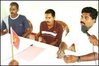 LTTE hands over two home guards to Thamileelam Police.