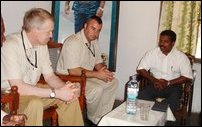 SLMM new chief Mr. Ulf Henricsson meets LTTE Jaffna politcal head Ilamparuthi.