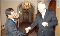 LTTE Political Head meets Director of the institute Geir Lundestad