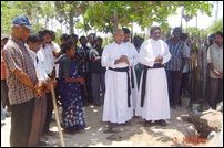 Foundation laid for permanent houses