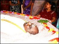 Vigneswaran funeral Tuesday