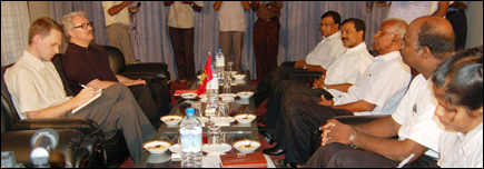 LTTE delegation in meeting with the Norwegian Special Envoy