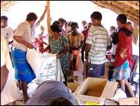 Relief supplies to Kanniya refugees