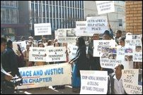 South African Tamils protest