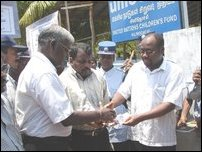 Demonstrations held in Killinochchi against killing Tamils.