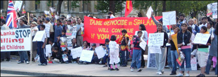 British Tamil protest