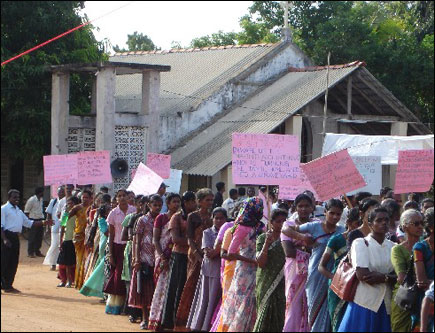 Protest march held in Killinochchi