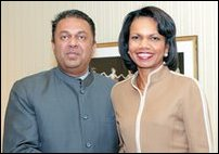 Secretary Rice and Samaraweera