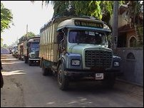 40 lorries  to Vaharai