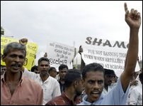 Protest in Colombo
