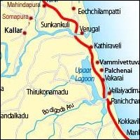 Vaharai Map