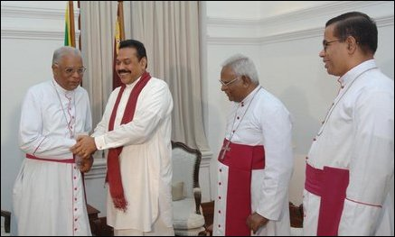 Bishops with Rajapakse