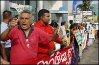 Agitation in Colombo