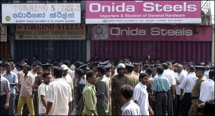 Colombo traders protest
