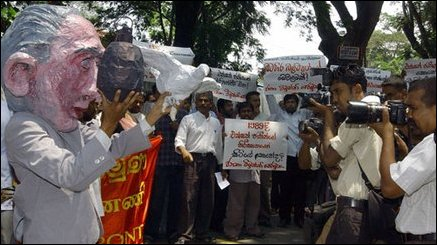 JVP holds protest