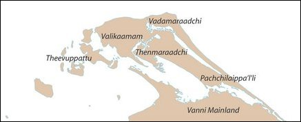 Traditional regions of the Jaffna peninsula