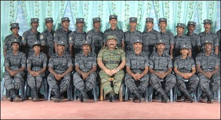 Black Tiger attack team with LTTE leader
