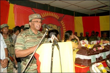 LTTE leaders pays respects S. P. Thamilchelvan