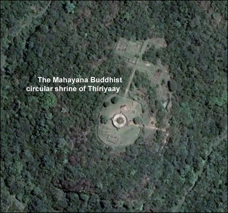 Satellite view of the archaeological site at Thiriyaay