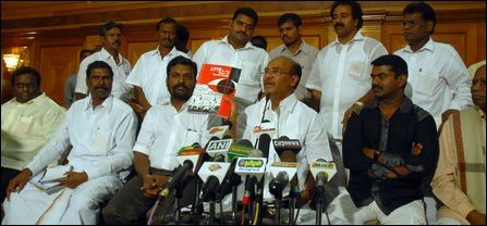 Tamil Nadu leaders exposed the propaganda publication by the Sri Lankan mission in Chennai in a rece
