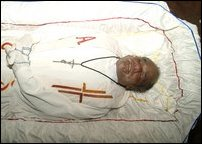 Remains of Fr.  M. X. Karunaratnam
