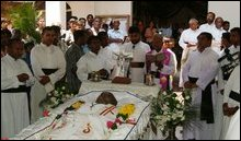 paying homage to Rev. M. X. Karunaratnam