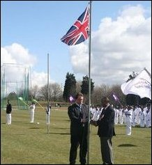 Raising of British Flag