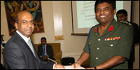 Sinhala expatriates in London with Defence Attache, Prasad Samarasinghe