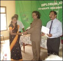 awarded Diploma in Journalism