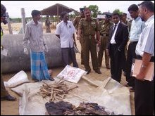 Massacre grave in Batticaloa