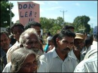 IDPs protest in Vanni