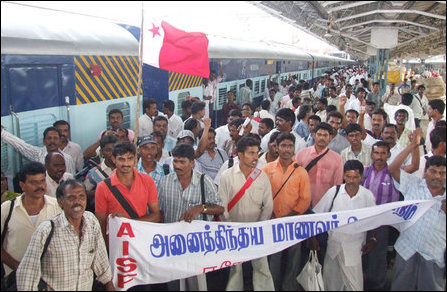 AISF Train to Delhi campaign