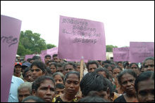 Vanni IDPs demonstrate