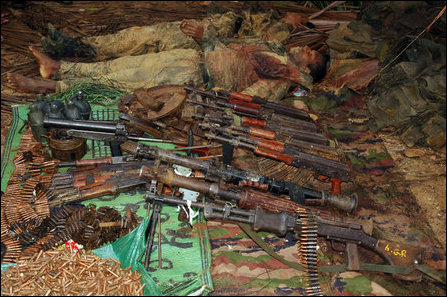Tigers seize weapons, recover SLA dead bodies in Ki'laali