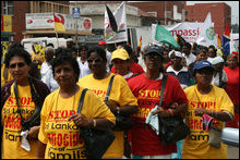South Africans protest against Tamil genocide