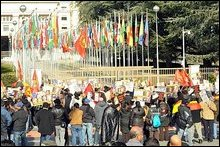 demonstrations  in Geneva