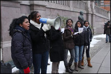 Norwegian Tamils shouting slogans.
