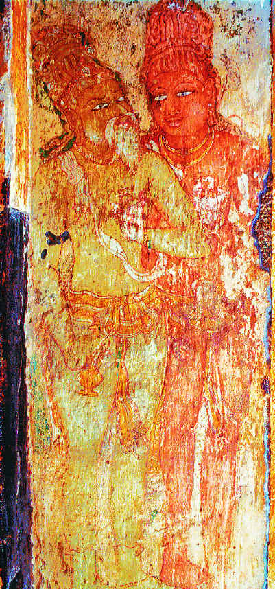 RajaRaja Chola e Karuvur Thevar ritratti nel tempio Brhadiswara