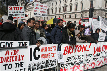 Fast to death protest by Tamil youth in Britain