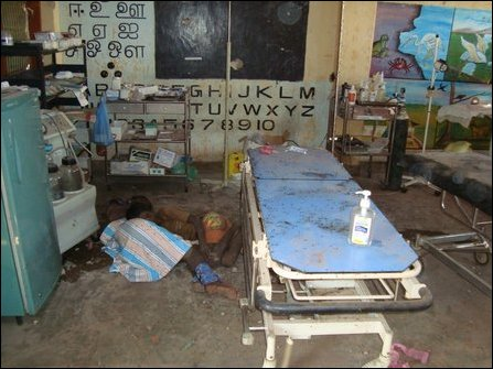tamilnet 02 05 09 sla massacres patients with targeted
