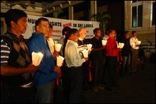 Candlelight vigil for Vanni victims