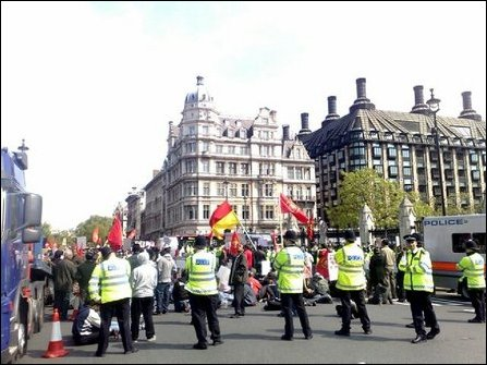 Demonstration in Parliament Square, London