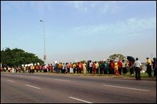 South Africa Tamil protest
