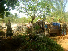 IDPs living on Jaffna railway track area