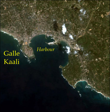 Location of Galle / Kaali