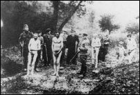 German police ready to shoot dead jewish men stripped naked