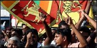 South celebrating military victory against LTTE