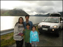 Srinivasan's family on global warming campaign tour
