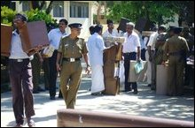 Ballot boxes dispatched to polling booths in Jaffna