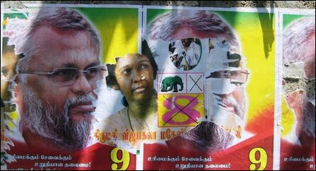Poster War in Jaffna